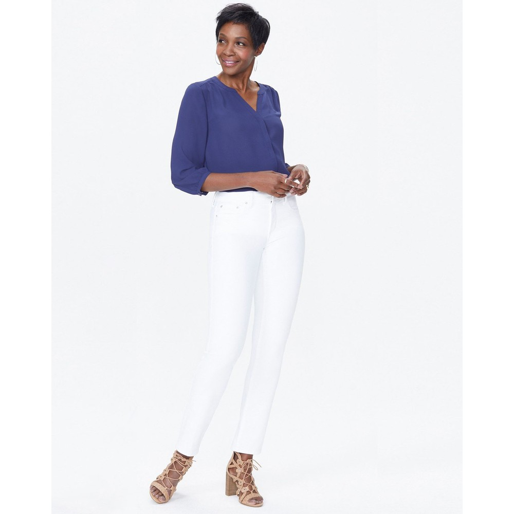 NYDJ Sheri Slim Jeans Optic White