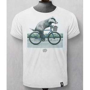 Dirty Velvet Biker Badger T-Shirt Vintage White