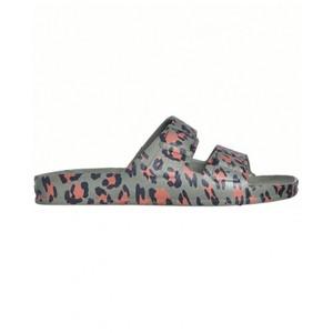 Amazonia Leopard Sandal Dark Khaki