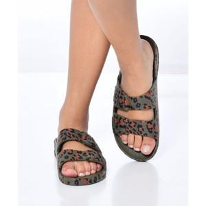 Cacatoes Amazonia Leopard Sandal Dark Khaki