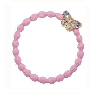 Bling Butterfly Bangle Band Soft Pink