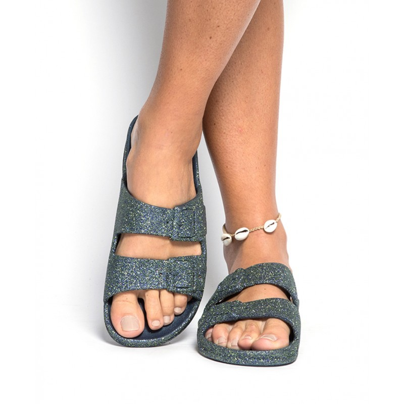 Cacatoes Trancoso Glitter Sandals Navy