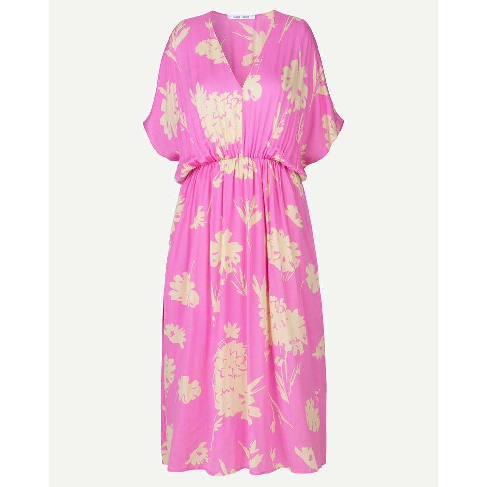 Samsoe Samsoe Andina Floral Long Dress Pink Kirigami