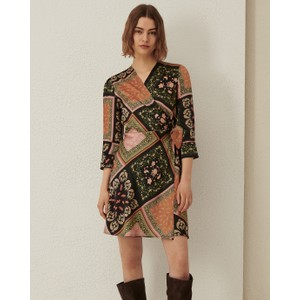 Riarso Wrap Paisley Print Dress Tobacco/Multi
