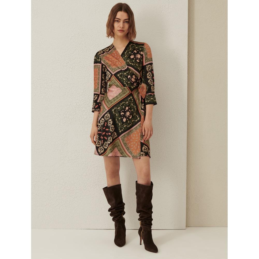 Marella Riarso Wrap Paisley Print Dress Tobacco/Multi