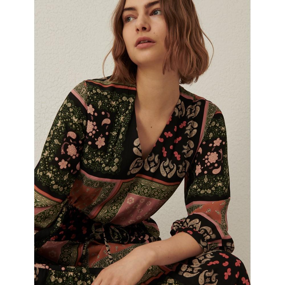 Marella Scozia Paisley Multi Print Dress Tobacco/Multi