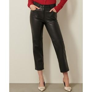 Valdena Faux Leather Trousers Black