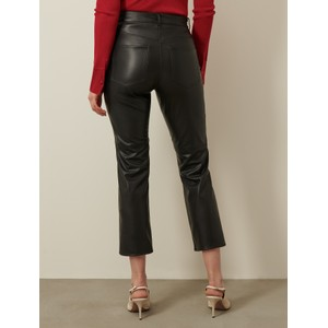 Marella Valdena Faux Leather Trousers Black