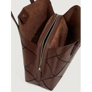 Marella Borgo Shopping Tote Dark Brown
