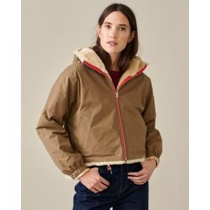 Loud Hooded Jacket Faux Fur Lining Rope
