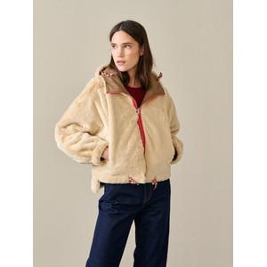 Bellerose Loud Hooded Jacket Faux Fur Lining Rope