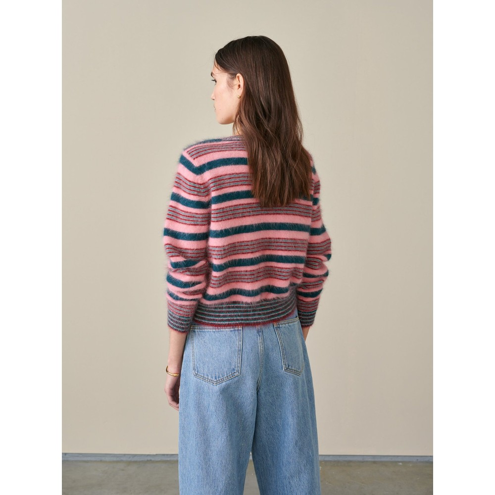 Bellerose Dattor Stripe Angora Jumper Pink/Multi