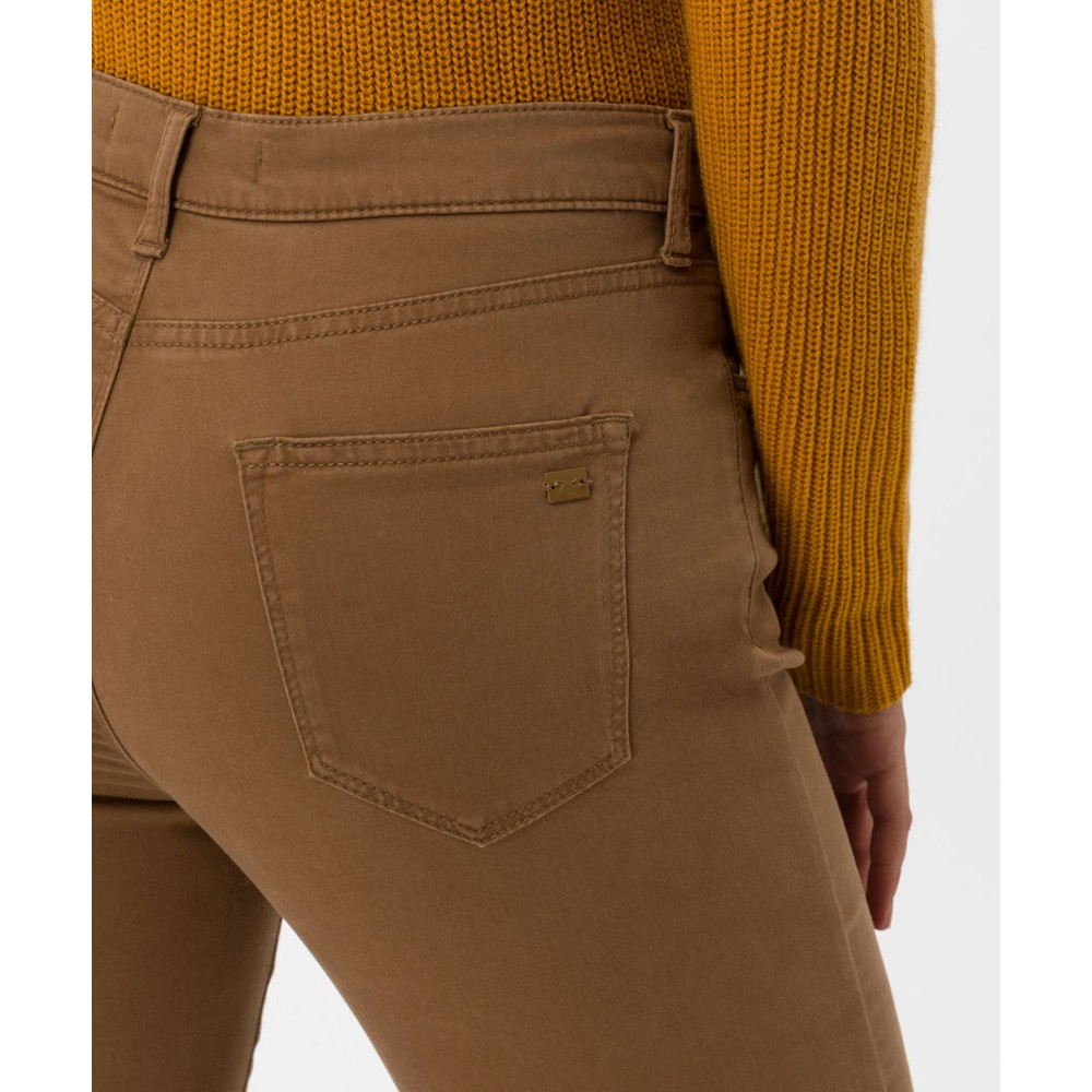Brax Mary Slim Fit Trousers Chestnut