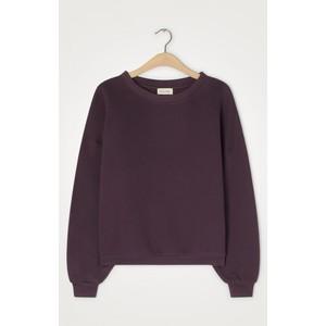 Ikatown Oversized Crop Sweater Aubergine