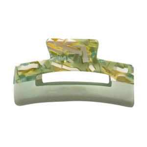 Cleo Square Hair Claw Olive Mix
