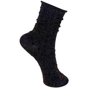 Gazelle Glitter Dot Socks Bronze Brown