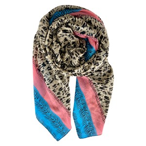 Anine Candy border scarf Animal Print Multi