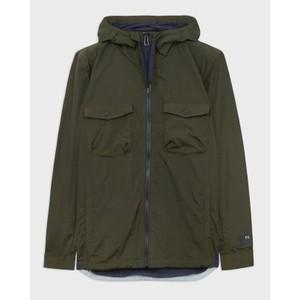 Hooded Full Zip Jacket Bottle Green