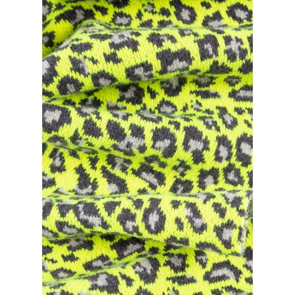 Paul Smith Accessories Leopard Rib Scarf Yellow