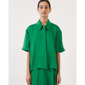 Moby Short Sleeve Boxy Shirt Medium Green