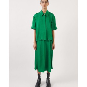 Saprina Drawstring Midi Skirt Medium Green