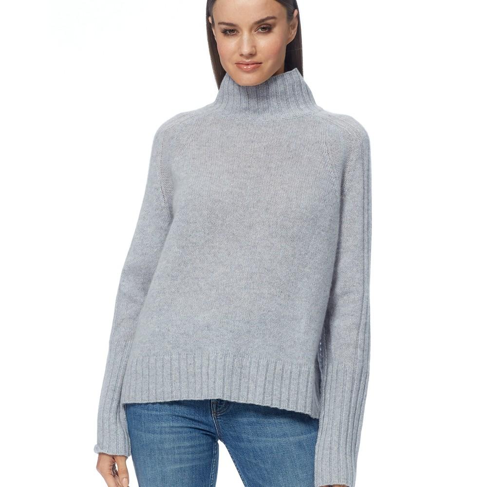 360 Sweater Annalee Turtleneck Jumper Light Heather Grey