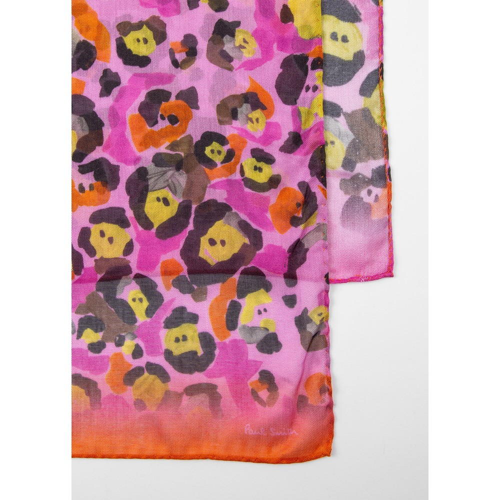 Paul Smith Accessories Leopard Scarf Pink