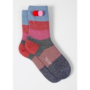 Samira Stripe Socks Pink/Multi