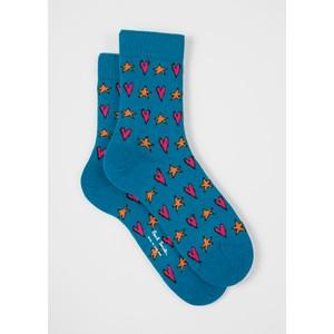 Tiffany Star Socks Turquoise