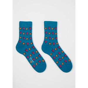 Paul Smith Accessories Tiffany Star Socks Turquoise