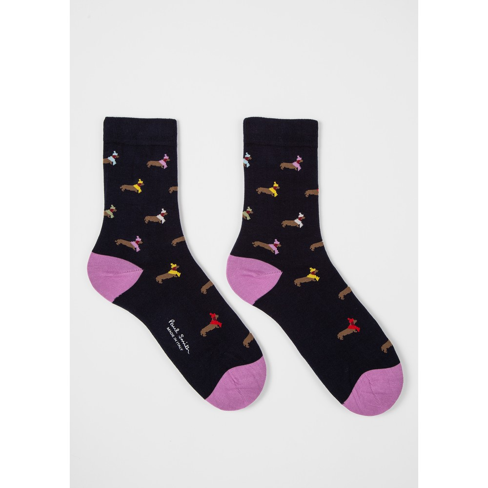 Paul Smith Accessories Tara Teckle Socks Navy