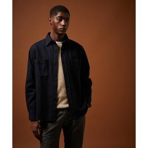 Percey Wool Mix 2 Pocket Shirt Dark Navy