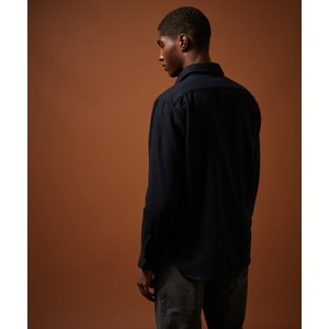 Hartford Percey Wool Mix 2 Pocket Shirt Dark Navy