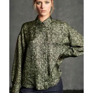 Tapestry Print Shirt Green