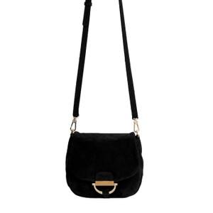abro Temi Small Cross Body Bag in Black/Gold