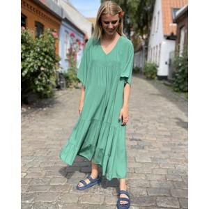 Ollie V-Neck Tiered Dress Green
