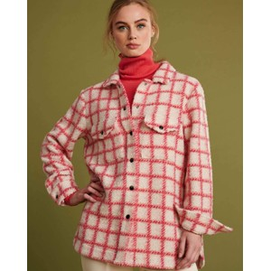 Checks Shirt/Jacket Hot Pink/White