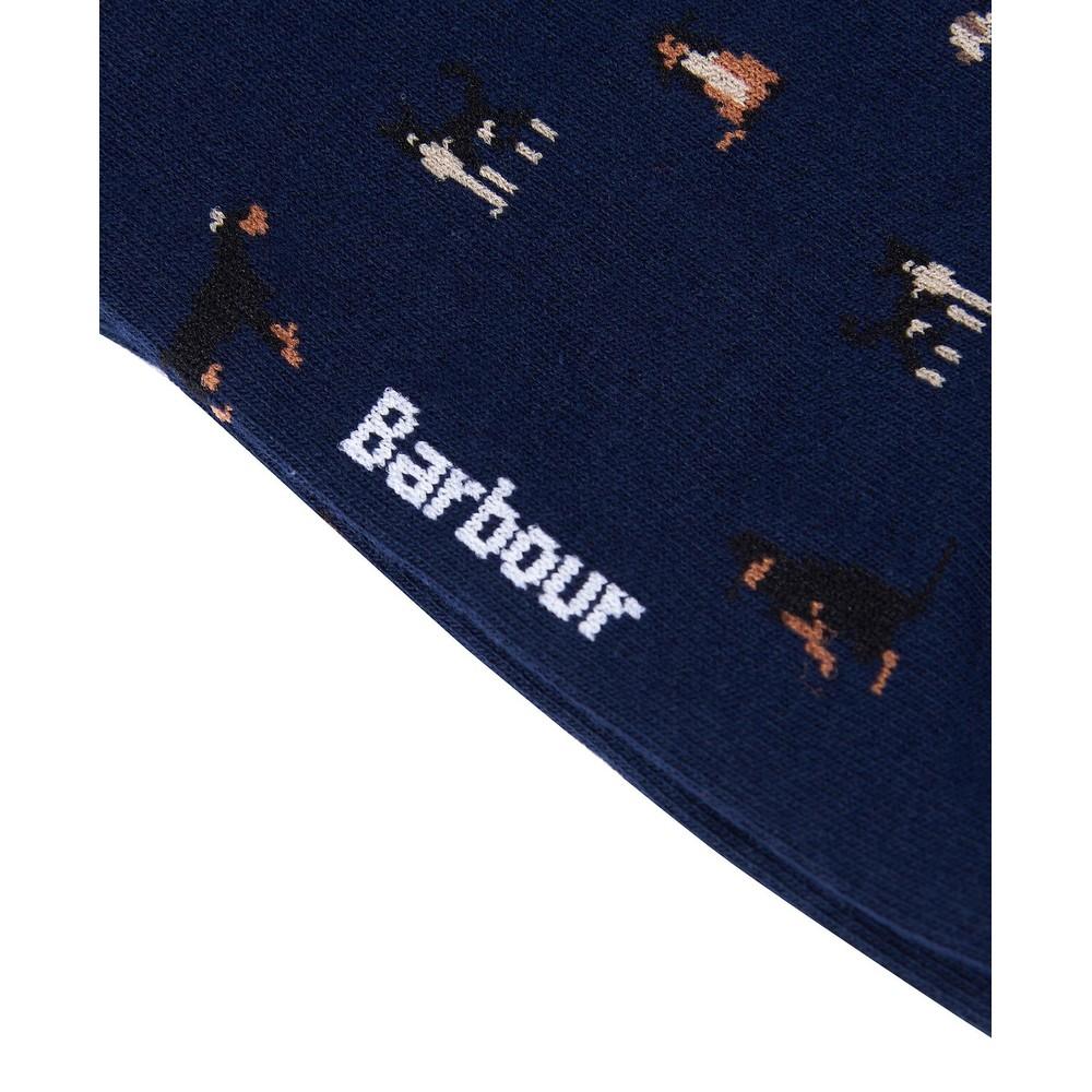 Barbour Mavin Socks Mid Blue/Dog