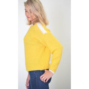 Essentiel Antwerp Reggae Contrast Knit Jumper Yellow/White