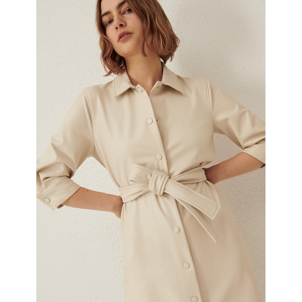 Marella Bronte Jersey Shirt Dress Cream