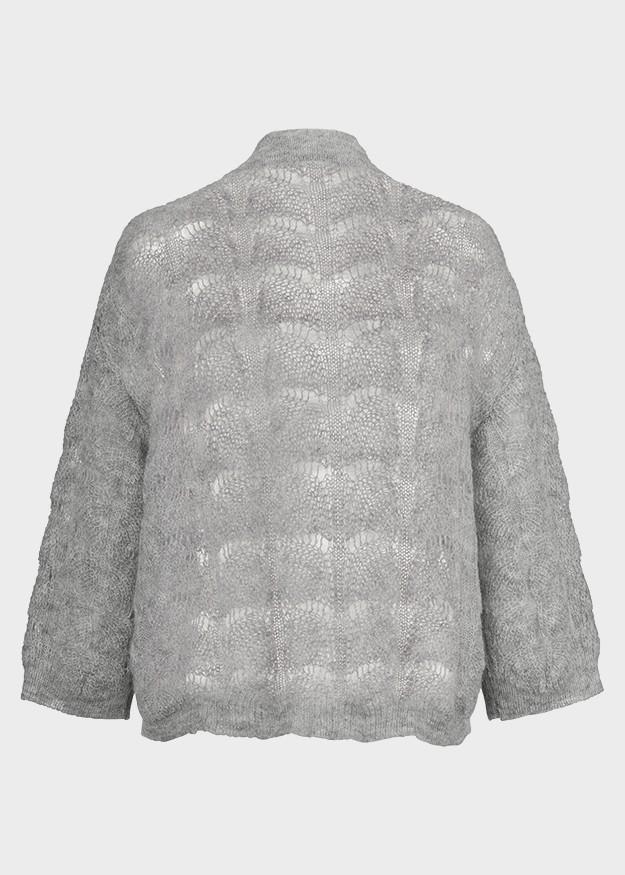 Riani 3/4 Sleeve Loose Knit Jumper Silver Grey