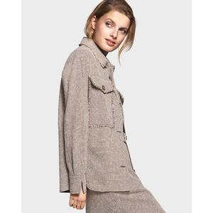 Fringe Trim Jacket Amber Patterned