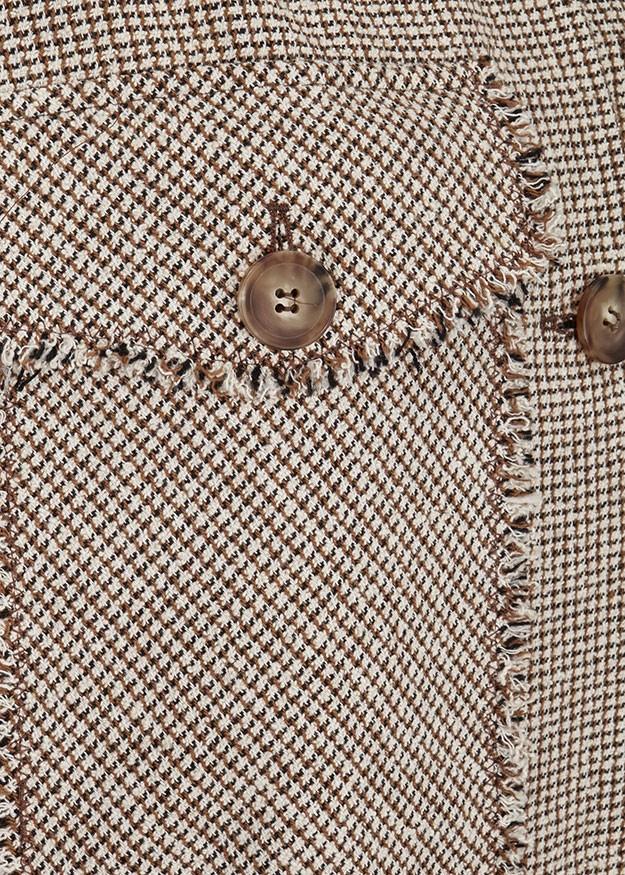Riani Fringe Trim Jacket Amber Patterned