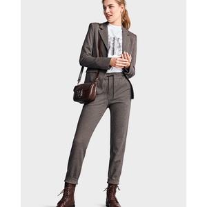 Straight Leg Dogtooth Trouser Black/Patterned
