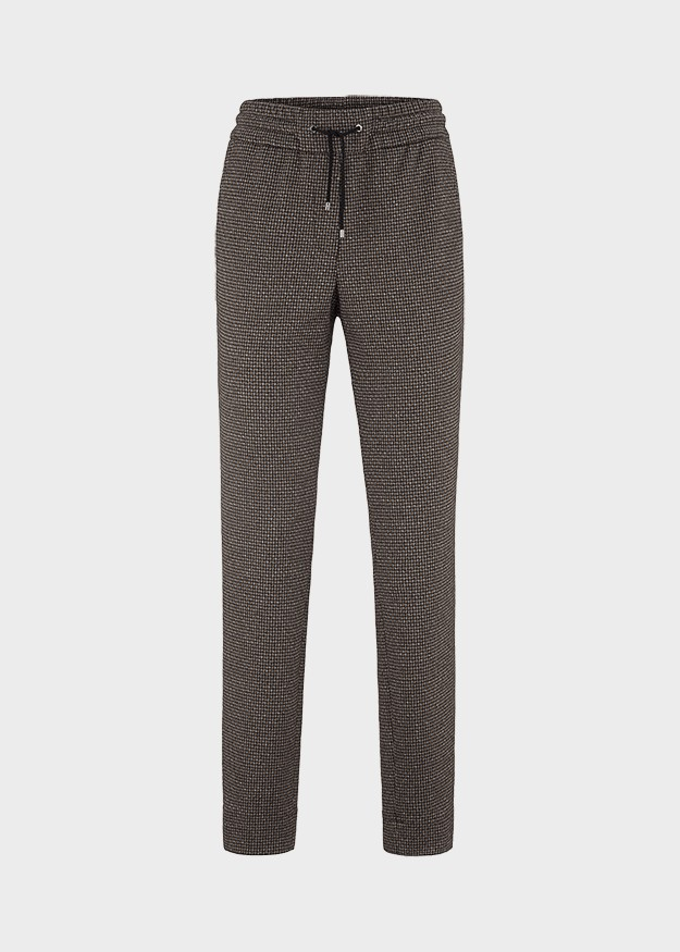 Riani Straight Leg Dogtooth Trouser Black/Patterned