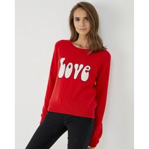 Love Fine Knit Jumper Red