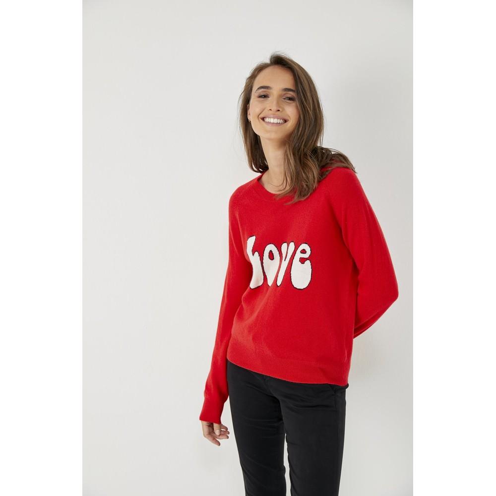 Five Love Fine Knit Jumper Red