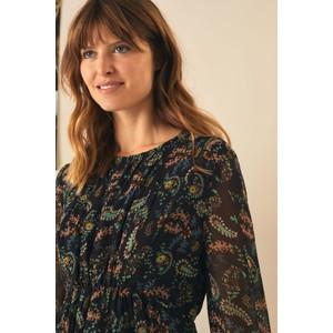 Leon & Harper Rush Long Sleeve Paisley Print Dress Dandelion/Black