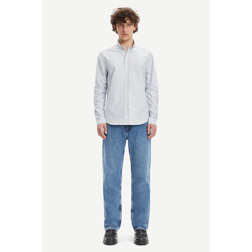 Samsoe Samsoe Liam BX Stripe Shirt Blue/White