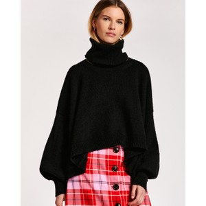 Agic Batwing Knit with Snood Black